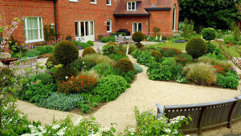 Garden Designer Justin Spink Cottage Garden for a new Farmhouse