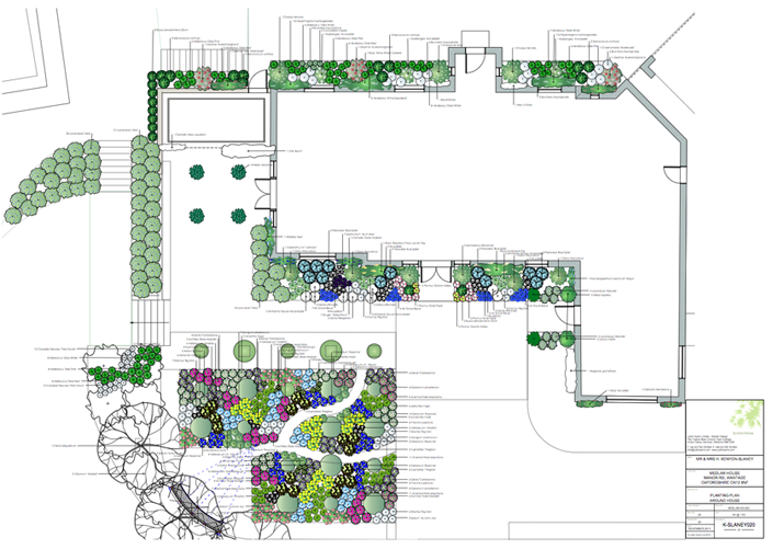 Justin Spink Medlar House Planting Plan and Schedules